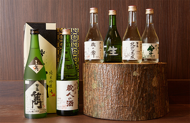Local sake, local beer, and wine